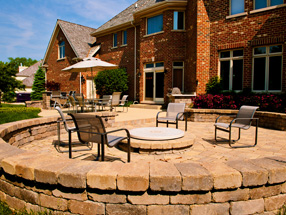 custom paver brick patios
