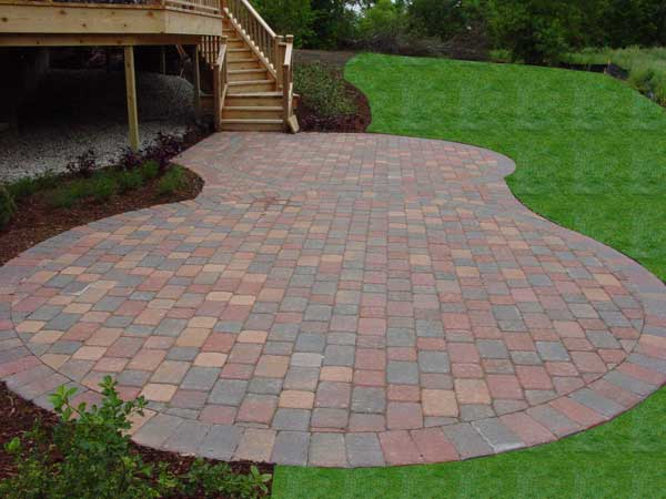 Lake County IL Unilock Patio Pavers   Brick Paver Patios ... on Backyard Paving Stone Ideas id=14551
